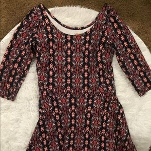 Hollister Fit and Flare Patterned Dress